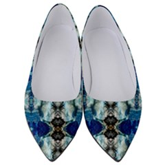Royal Blue Abstract Pattern Women s Low Heels