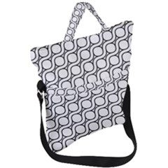 Between Circles Fold Over Handle Tote Bag by TimelessFashion