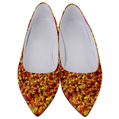 Orange Yellow  Saw Chips Women s Low Heels by Costasonlineshop