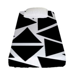 Black Triangles Fitted Sheet (single Size) by FEMCreations