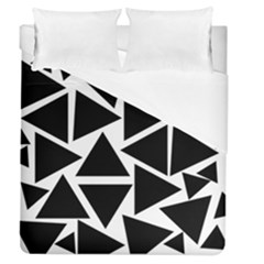 Black Triangles Duvet Cover (queen Size) by TimelessDesigns
