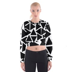 Black Triangles Cropped Sweatshirt