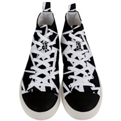 Black Triangles Men s Mid Top Canvas Sneakers