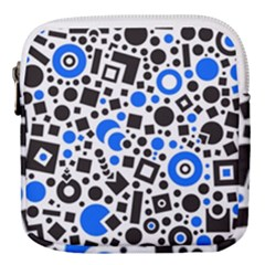 Black Versus Blue Mini Square Pouch by TimelessFashion