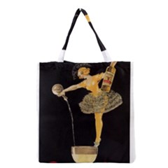 Lady Pouring Champagne  Grocery Tote Bag by StarvinArtisan