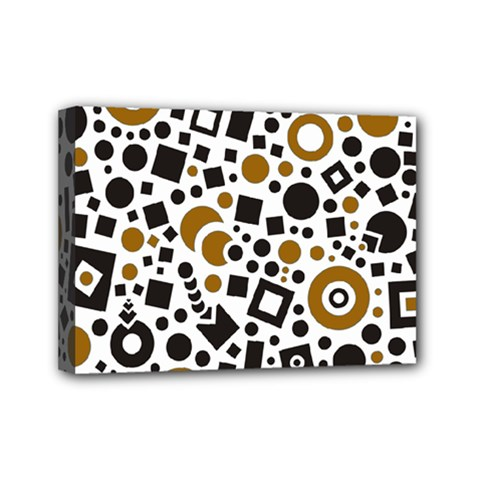 Black Versus Brown Mini Canvas 7  X 5  (stretched) by FEMCreations