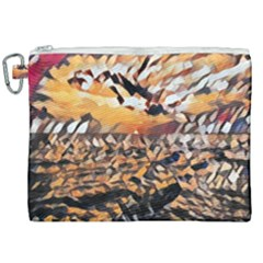 Sunset On The Sea Canvas Cosmetic Bag (xxl) by StarvinArtisan