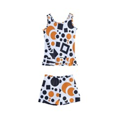 Black Versus Orange Kids  Boyleg Swimsuit by TimelessFashion