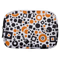 Black Versus Orange Make Up Pouch (small) by TimelessFashion