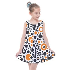Black Versus Orange Kids  Summer Dress by TimelessFashion