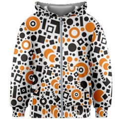 Black Versus Orange Kids  Zipper Hoodie Without Drawstring