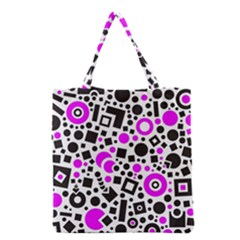 Black Versus Pink Grocery Tote Bag by TimelessFashion