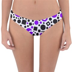 Black Versus Purple Reversible Hipster Bikini Bottoms by TimelessFashion
