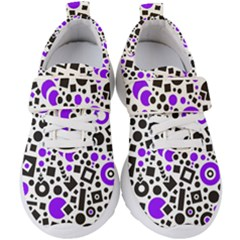 Black Versus Purple Kids  Velcro Strap Shoes by TimelessFashion