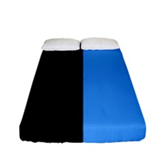 Black Blue Fitted Sheet (full/ Double Size) by FEMCreations
