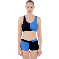 Black Blue Work It Out Gym Set by TimelessFashion