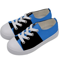 Black Blue Kids  Low Top Canvas Sneakers by TimelessFashion