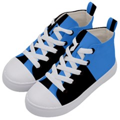 Black Blue Kids  Mid Top Canvas Sneakers by TimelessFashion