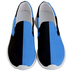 Black Blue Men s Lightweight Slip Ons by TimelessFashion