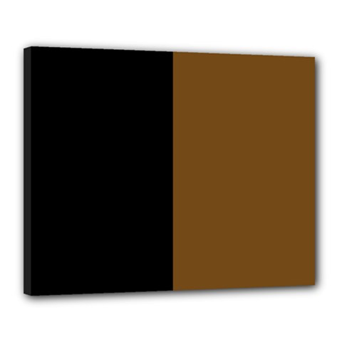 Black Brown Canvas 20  X 16  (stretched)