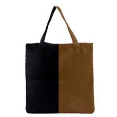 Black Brown Grocery Tote Bag by TimelessFashion