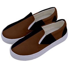 Black Brown Kids  Canvas Slip Ons by TimelessFashion