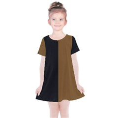 Black Brown Kids  Simple Cotton Dress by TimelessFashion