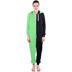 Black Green Hooded Jumpsuit (ladies)  by TimelessFashion
