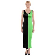 Black Green Fitted Maxi Dress by TimelessFashion