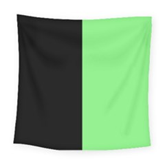 Black Green Square Tapestry (large) by FEMCreations
