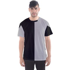 Black Grey Men s Sports Mesh Tee by TimelessFashion
