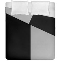 Black Grey Duvet Cover Double Side (california King Size)