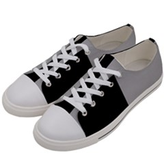 Black Grey Women s Low Top Canvas Sneakers by TimelessFashion