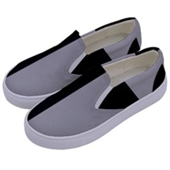 Black Grey Kids  Canvas Slip Ons by TimelessFashion