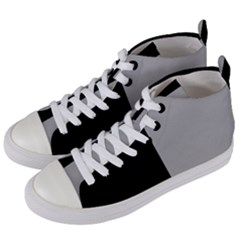 Black Grey Women s Mid Top Canvas Sneakers by TimelessFashion