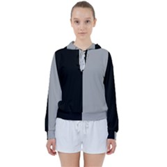 Black Grey Women s Tie Up Sweat by TimelessFashion