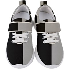 Black Grey Kids  Velcro Strap Shoes by TimelessFashion