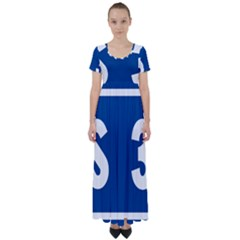 Italy State Highway 38 High Waist Short Sleeve Maxi Dress
