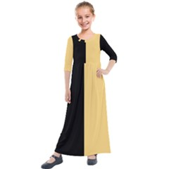 Black Orange Kids  Quarter Sleeve Maxi Dress by TimelessFashion