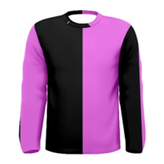 Black Pink Men s Long Sleeve Tee by TimelessFashion