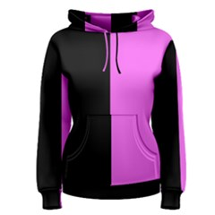 Black Pink Women s Pullover Hoodie by TimelessFashion