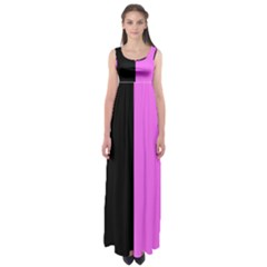Black Pink Empire Waist Maxi Dress by TimelessFashion
