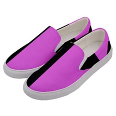 Black Pink Men s Canvas Slip Ons by TimelessFashion