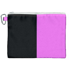 Black Pink Canvas Cosmetic Bag (xxl) by FEMCreations