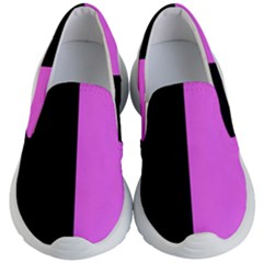 Black Pink Kids  Lightweight Slip Ons by TimelessFashion