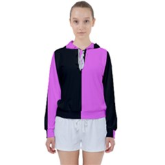 Black Pink Women s Tie Up Sweat by TimelessFashion