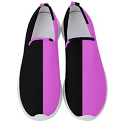 Black Pink Men s Slip On Sneakers by TimelessFashion