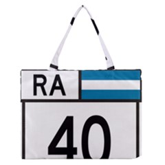 Argentina National Route 40 Zipper Medium Tote Bag by abbeyz71