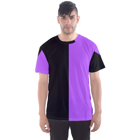 Black Purple Men s Sports Mesh Tee by TimelessFashion