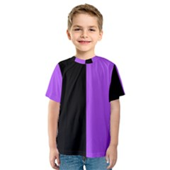 Black Purple Kids  Sport Mesh Tee